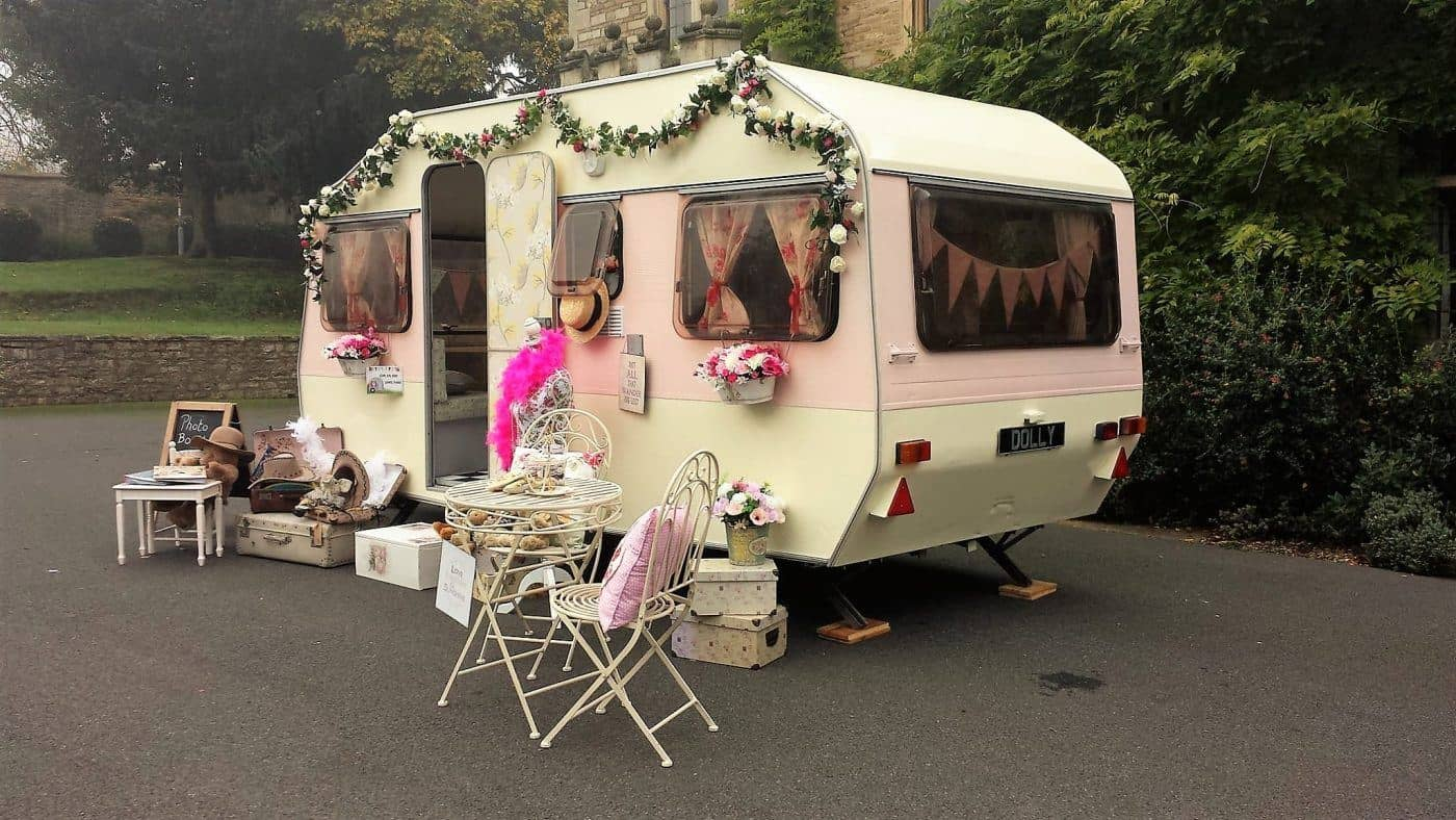 Dollys Vintage Caravan Photo Booth Hire Side