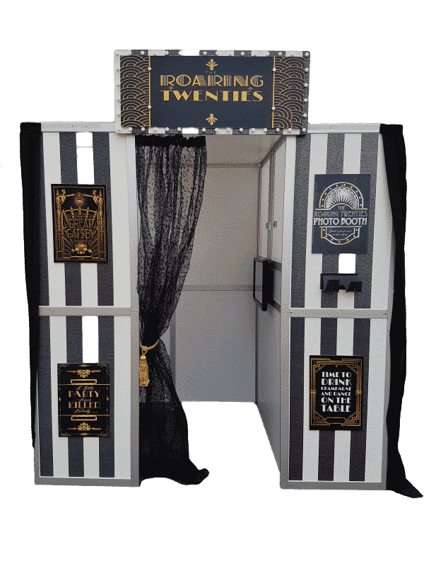 picture of the Gatsby Roaring Twenties photo Booth Front